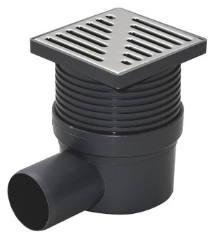 Regulated Height Bottom/Side Outlet 100x100mm Floor Waste Drain Gully Trap