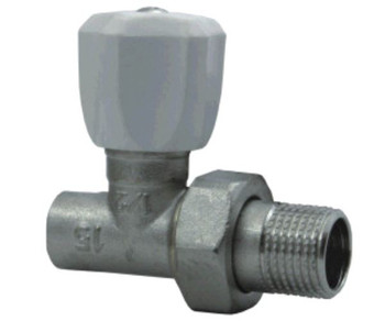 "Straight/Angled 15mm x 1/2"" Inch Male BSP Soldered Radiator Valve with Handle"