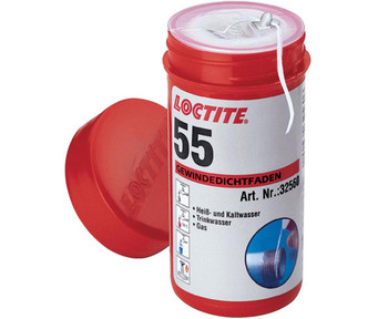 Loctite 55 pipe sealing thread cord for water and gas leak fix - size 150m from Plumbing sealants