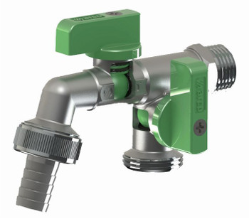 Double duo outlet garden outside outdoor bib tap valve 1/2 x 3/4 x 3/4 bsp from Garden taps  valves