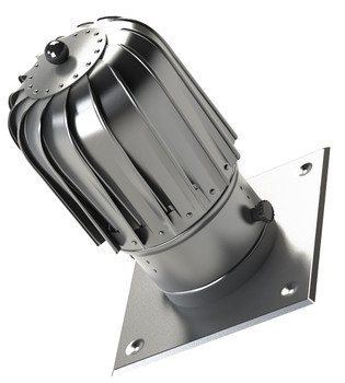 150mm slim chimney flue spinner aluminium plug-in spinning cowl with extra roof plate from Spinning chimney cowls