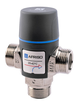 Afriso quality adjustable water thermostatic mixing valve 20-43c mixer 1 male dn20 from Mixing valves