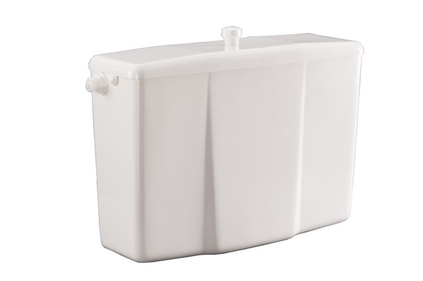 White Plastic Low-level WC Toilet Bathroom Flush Cistern Tank Lever Flush from Toilet spares