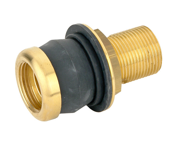 Bugatti Rainwater Brass Keg Barrel Connection with Rubber Gasket 3/4 from Threaded joints