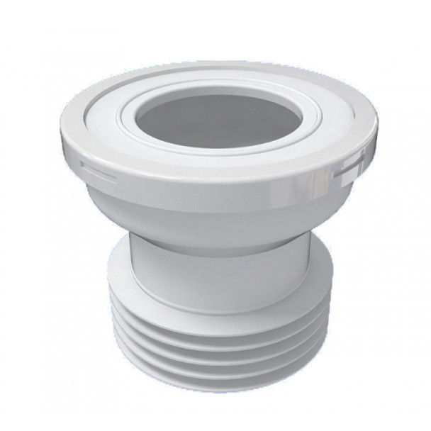 110mm 4 Toilet WC Straight Waste Pan Connector Rubber Connector for Toilet Pans from Waste pan connectors