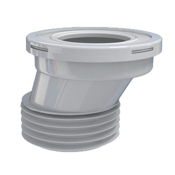 110mm 4 Toilet WC Offset Waste Pan Connector Rubber Connector for Toilet Pans from Waste pan connectors