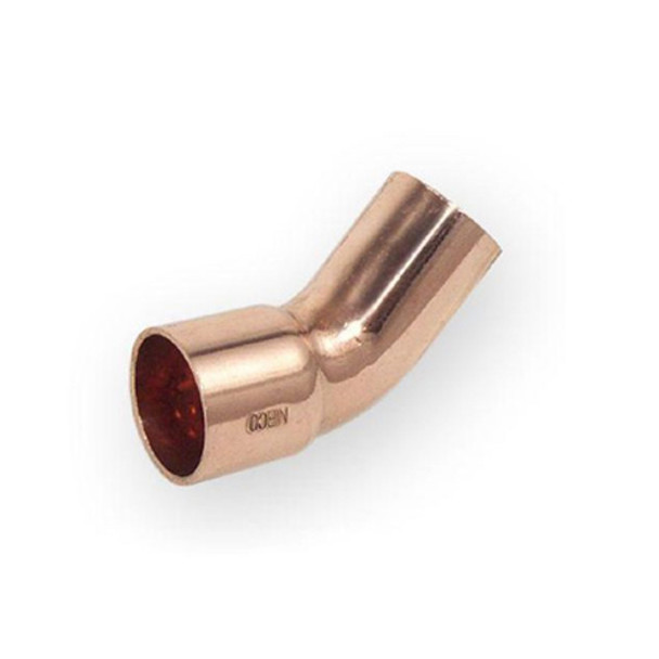 Pipe Fitting Bow Elbow Copper Solder Male x Female 18mm Diameter 45deg Angle from Copper fittings