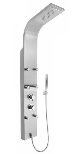 Stainless Steel Shower Panel Column with Hydromassage + Regulated Nozzles from Shower tower panels