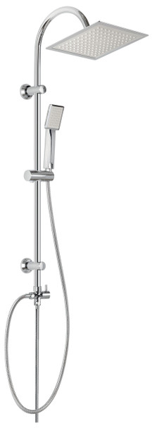 Chrome Plated Stainless Steel Shower Bathroom Set Column with Square Rainfall from Shower sets