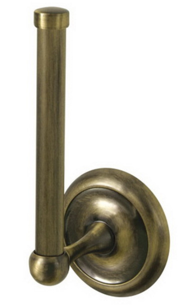 Retro Bathroom Antique Brass Vertical Mounted Toilet Paper Rack WC Roll Holder from Toilet roll holders