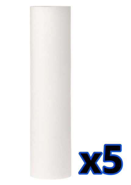 5x Anti Sediment 10 Polypropylene Water Filter 5um Cartridge Removes Solids from Water Filter Cartridges