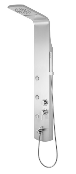 Brushed Steel Shower Panel Rain Shower Hydromassage Water Stream Nozzles from Shower tower panels