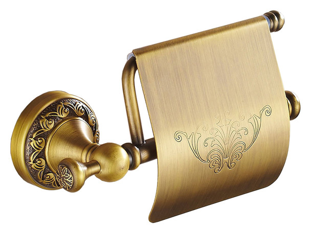 Antique Brass Toilet Elegant Roll Holder with Flap Paper Rack Wall Mounted from Toilet roll holders