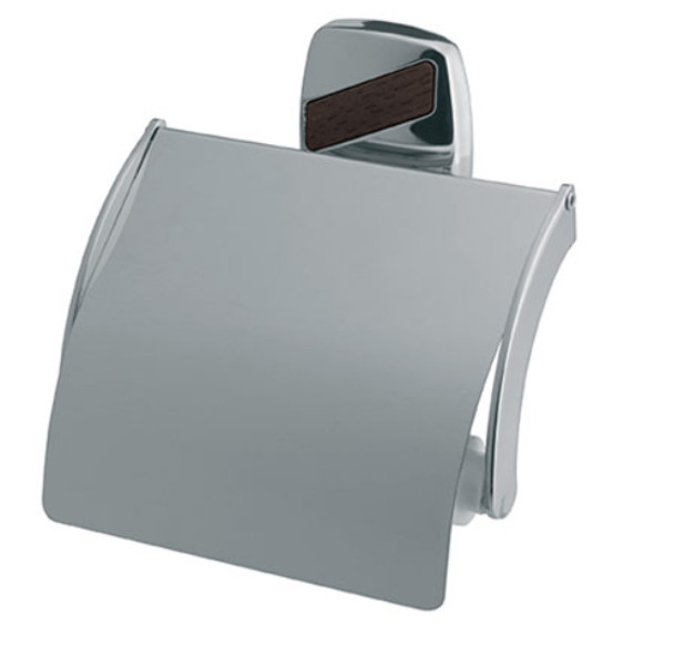 Toilet Paper Rack Wc Roll Holder Modern Bathroom Chromed Zamak Wall