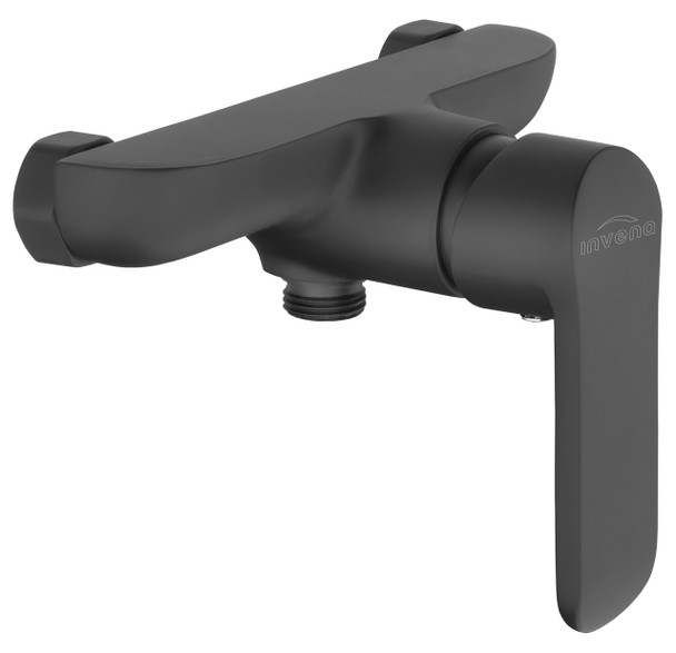 Bathroom Shower Wall Mounted Mixer Single Lever Tap Black Powder Coated Brass from Shower mixers