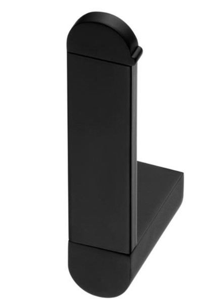 Vertical Toilet Paper Rack WC Roll Holder Modern Black Powder Coated Zamak from Toilet roll holders