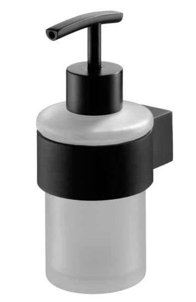 Liquid Soap Tempered Glass Dispenser Bathroom Black Powder Coated Zamak from Soap dispensers