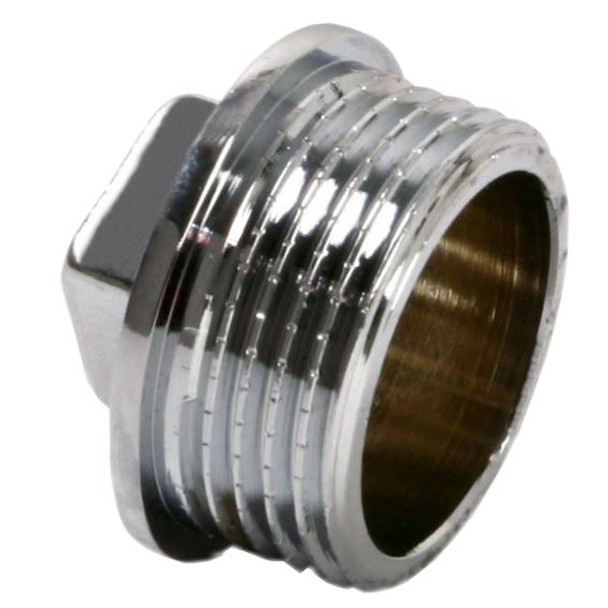 Pipe Plug Stop End Male Cap Cover Ending Tube Fittings Chrome 3/8 1/2 3/4