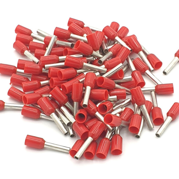 100pcs Insulated Single Cord End Wire Terminal Crimp Bootlace Ferrules