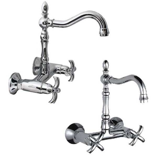 Classic Vintage Traditional Kitchen Bath Sink Mixer Tap Wall