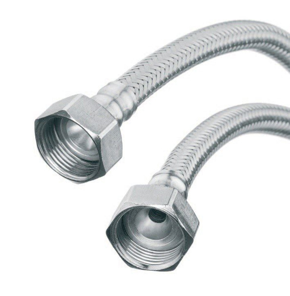 1/2 x 1/2 Inch Flexible Kitchen Basin Tap Connector Tail Hose Pipe 30-60cm