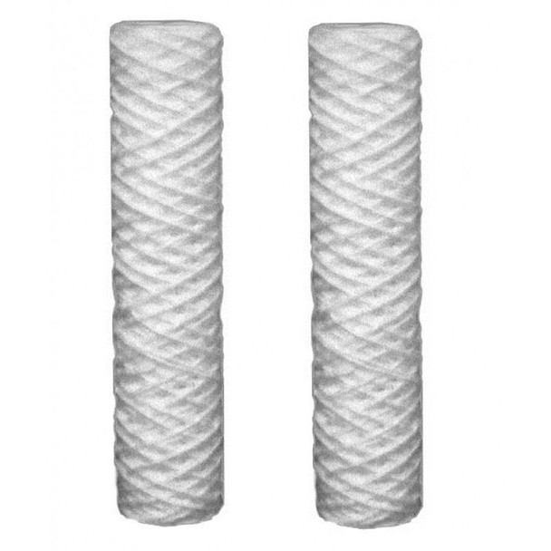 """2x Sediment 5-100um Micron Water Filter Cartridges Fits All 10"""" Reverse Osmosis"""