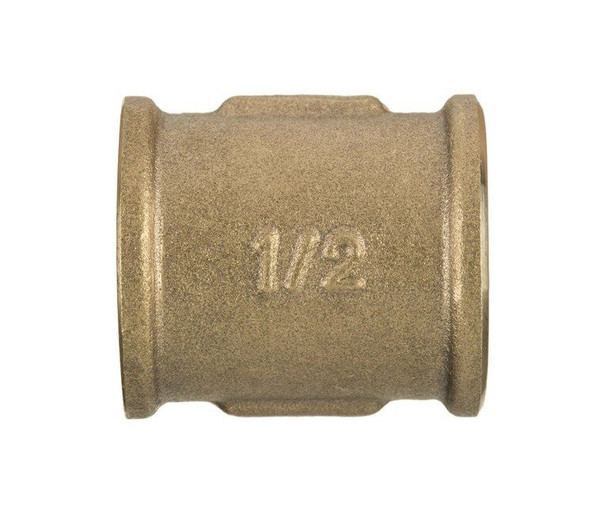 1/2 3/4 1 Inch Threaded Pipe Coupling Connection Fittings Brass