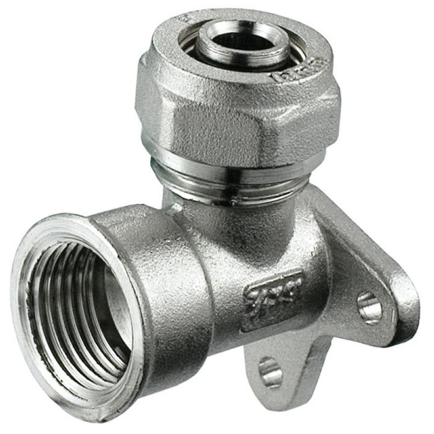 PEX 16/20mm x 1/2 Compression Fittings Wall Back Plate Elbow