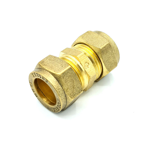 15mm Straight Coupler Brass Compression Fitting Coupling