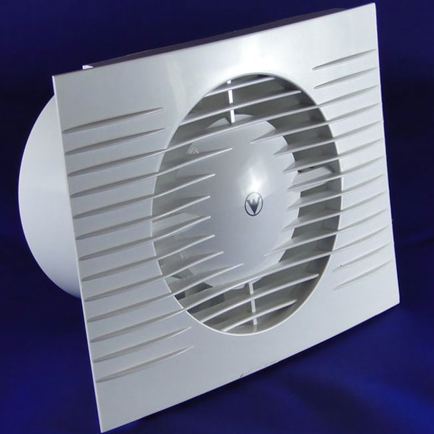 White Bathroom Kitchen Toilet Extractor Fan 120mm with Timer + Humidity Sensor from Standard wall fans