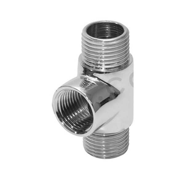1/2 BSP MxFxM Threaded Pipe Tube Radiator Connection Tee Chrome Plated Brass Fittings from Threaded tees