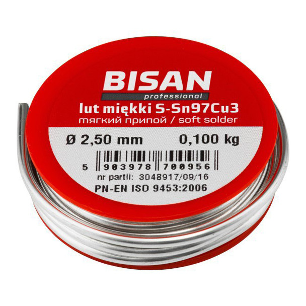 Lead free plumbing plumbers solder wire soft s-sn97cu3 2.5mm for copper pipe 100g from Plumbers soldering
