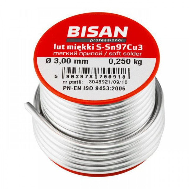 Lead free plumbing plumbers solder wire soft s-sn97cu3 2.5mm for copper pipe 250g from Plumbers soldering