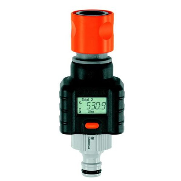 Gardena digital electronic water smart flow meter for garden hose watering from Hose flow meters