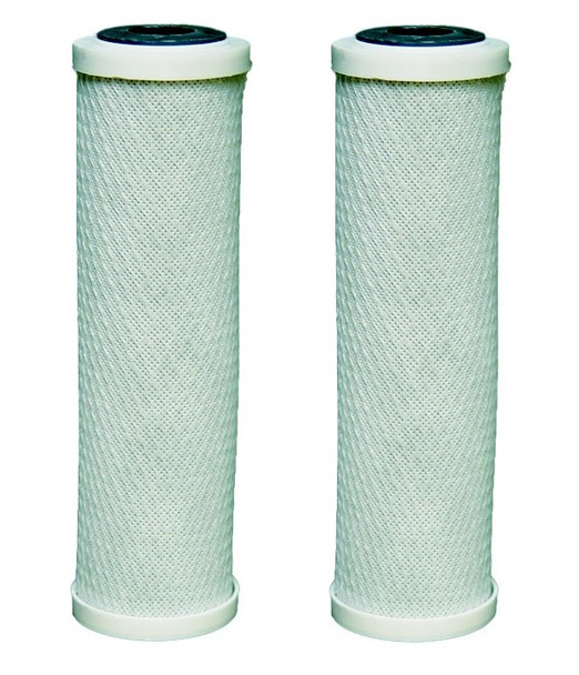 2 x carbon water filter cartridges fits all 10 housings for ro reverse osmosis from Water Filter Cartridges