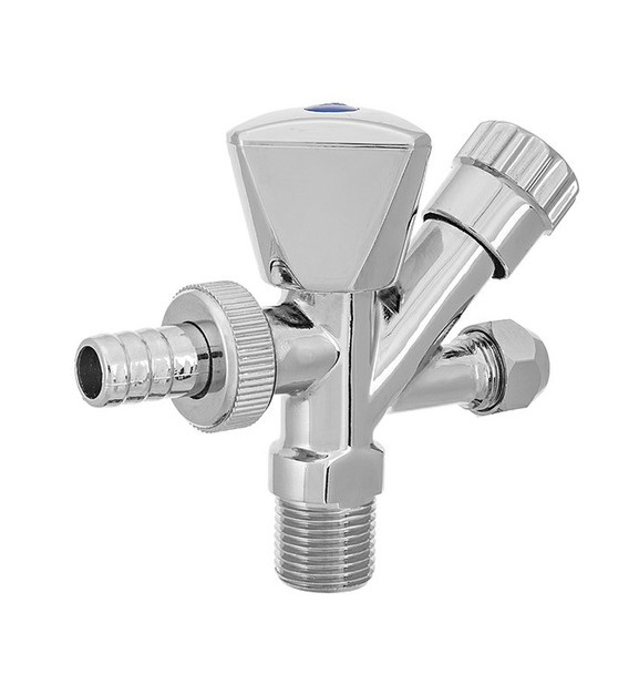1/2 inlet x 3/4 washing machine outlet x m10 tap outlet connection valve chrome from Screw valves