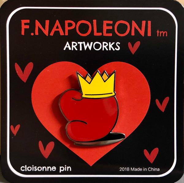 "Love rules  1.25"" Cloisonne Pin w/ butterfly clutch"