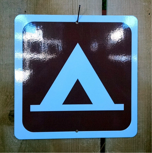 Tent Camping Recreation Symbol Sign