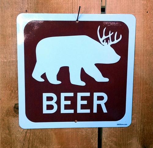 Beer Bear Recreation Symbol Sign