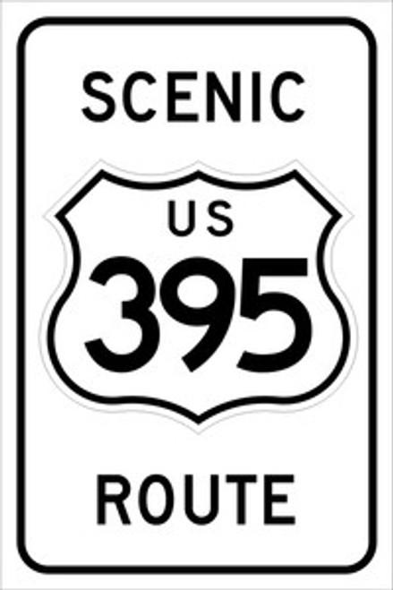 395 Scenic Route Sign