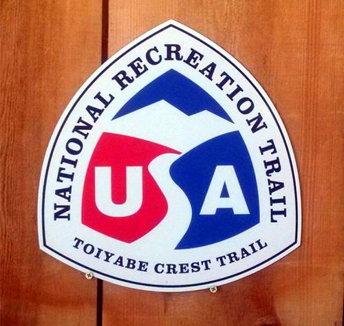 Toiyabe Crest Trail sign