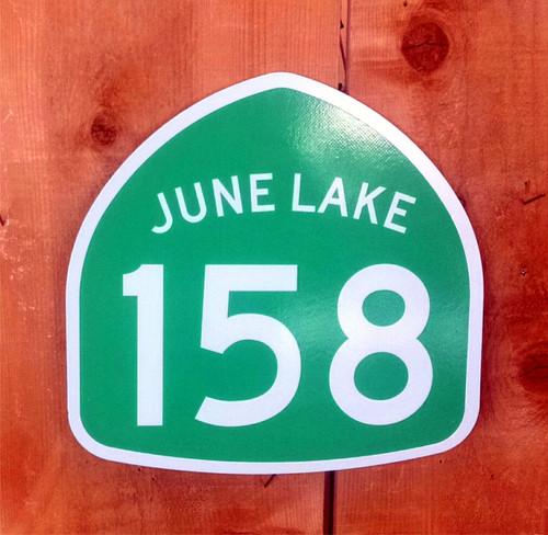 Highway 158 June Lake Sign
