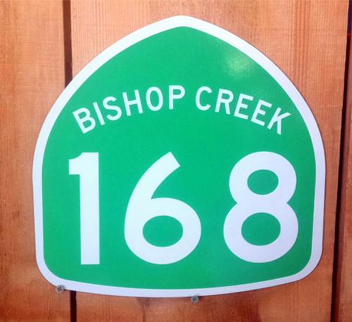 Highway 168 Bishop Creek Sign