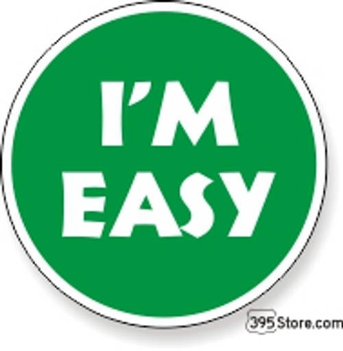 I'm Easy Snow Ski Sticker