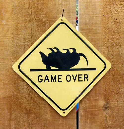Game Over Crossing Sign