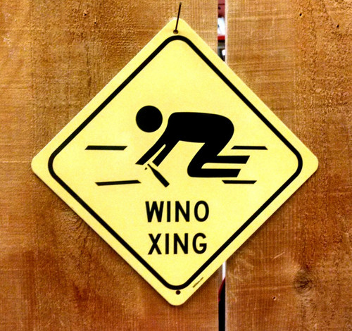 Wino Crossing Sign