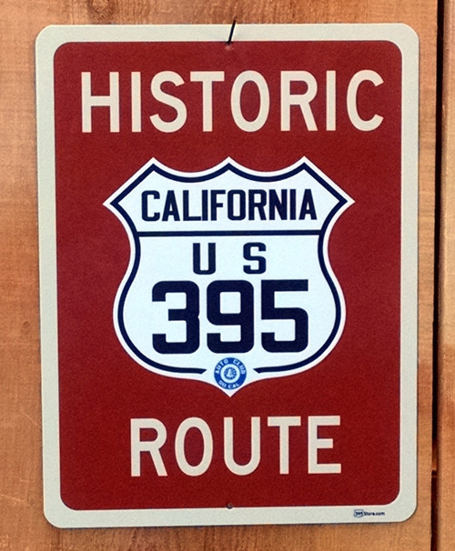 Historic Route 395 sign