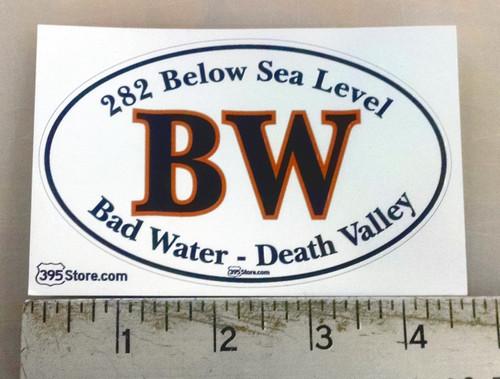 Bad Water Death Valley Oval Sticker
