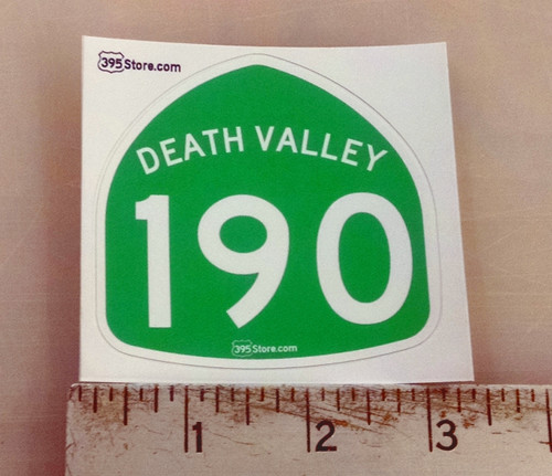 Death Valley Highway 190 Sticker