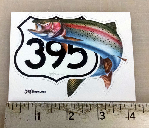 395 Rainbow Trout Fishing Sticker
